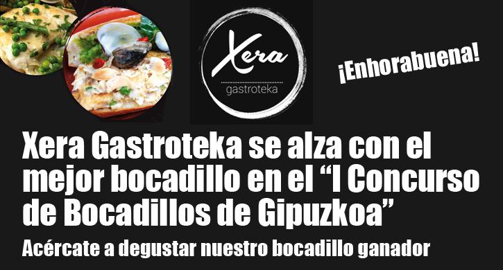 Xera Gastroteka gana el I Concurso de Bocadillos de Gipuzkoa