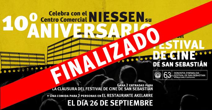 Celebra con Centro Comercial Niessen su 10ºaniveresario y disfruta del Festival de Cine de San Sebastián