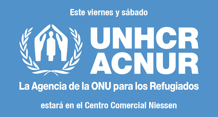 Este viernes y sábado la ONG internacional ACNUR estará en el Centro Comercial Niessen