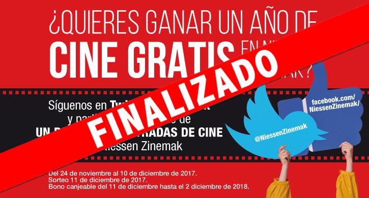 ¿Quieres ganar un año de cine GRATIS en Niessen Zinemak?