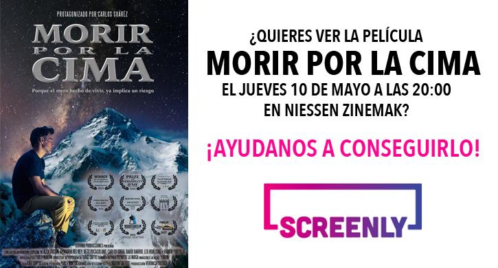 ¿Quieres ver la película Morir por la cima el jueves 10 de mayo?