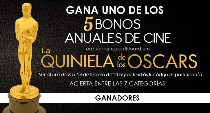 Ganadores de la Quiniela de los Oscars 2019
